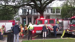 Fire at historic mansion 2525 St. Charles Avenue (Infrogmation) Tags: fire uptown stcharlesavenue neworleans video