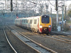 From Holyhead to London (The Walsall Spotter) Tags: virgintrains virginvoyager class221 class221supervoyager ukmultipleunits lichfieldtrentvalley londoneuston holyhead overheadlineequipment overheadwires electric