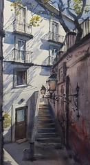 Lost in Lisbon (Martin Klapka) Tags: watercolor watercolour aquarelle painting lisbon paintingsketch