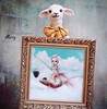 Fishy 🐑 (pure_embers) Tags: pure embers laura pureembers uk england whimsical cute photography portrait lamb sheep taxidermy animal sculpture mary doll collector anthropomorphic adele morse favourite oil painting