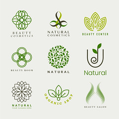 Set of natural cosmetics logo vector (logokingdom1) Tags: aesthetic badge beauty beautycare beautycenter beautycosmetics beautyroom beautysalon body brand branding calmness care collection corporateidentity cosmetics cream decoration design doodle element face facial feminine floral graybackground hair health healthcare icon idea illustration leaf line logo makeup mandala minimal motif natural naturalcosmetics nature nochemical organic organicshop petal plant relaxation relaxing salon set sign simple skin spa symbol template therapy treatment vector wellbeing wellness wellnesscenter woman