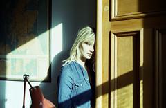 b the hard cold light of day (Ian Allaway) Tags: winter sun natural light 35mm analogue kodak colro 200 nikonfm2 portrait