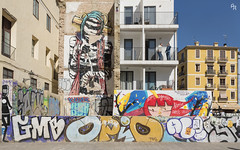 Space mummy, and other characters (Andrea Rizzi Esk) Tags: street art graffiti people murales urban valencia spain eclettic colorful abstract constrast space mummy