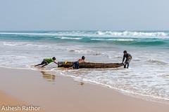 Push (asheshr) Tags: 18140mm beach beachphotography d7200 fishingboat havingfun kidsplaying nikkon nikkond7200 nikkor18140mm odisha orissa sea seascape seashore surf