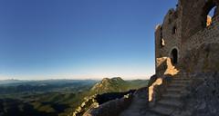 France -château de Quéribus - citadelle du vertige (AlCapitol) Tags: france occitanie languedoc château castle nikon d800 quéribus ruine escalier citadelleduvertige cathare