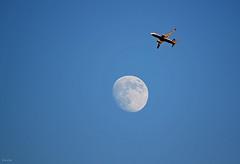 Quarteira/Algarve (Zéza Lemos) Tags: portugal sol algarve asas canon céu ciel capture avião lua