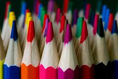 Multicoloured (Cor Oosterbeek) Tags: lookingcloseonfriday multicoloured colors colored pencil potloden kleuren macro