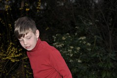 Freedom & ought (dorofoto) Tags: boy 365 garden human kid flash