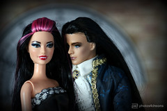 bride & groom portrait (photos4dreams) Tags: armand photos4dreams p4d photos4dreamz ken surfing vintage alt styling barbie doll toy rerooting neu new reroot project handmade ooak hair haare puppe handgemacht oneofakind mattel vampire annerice canoneos5dmark3 diy raquelle dress barbies girl play fashion fashionistas outfit kleider mode puppenstube tabletopphotography fleamarket finding flohmarktfund diorama scenes 16