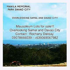 AMAZING Deals!!!  MANILA MEMORIAL PARK DAVAO CITY  OVERLOOKING SAMAL AND DAVAO CITY  PROMO #1 Lawn Lots at  980 per month for 54 months ZERO INTEREST, ZERO DOWNPAYMENT AND STAGGERED RESERVATION FOR first 3 month 1960 per month.  Intersted Buyer  CONTACT: (shandalisay) Tags: number1cemetery sanpedrocemetery nearsasa speciallot nearstfrancischurch memoriallot cheapestcemeterylot cemetery dutertedavao affordable zero nearateneo forestlakedavao tulfo 1 davaocity neardacudao nearmandug overlookingsamalanddavaocity mausoleumlotforsale beautifulcemetery nearmaanha nearairport nearboulevard nearholcim memoriallots catalunangrande nearbuhangin philippines beautifulmausoleum mausoleum installment highinncemeterylot bone futurerailwaymagtuodpassesthrough caskets nearurc straight nearbangkeruhan nearrobisonsubdivision orchardcemetery manilamemorialparkdavaocityphase3cemetery philippinescemetery nearcargill investment nearmontiritz magtuod saintpeter davaoonlineselling cemeterylot nearusep onlineselll nearpalmettoplace neardowntown jesicasoho presidentdutertetoday nearwoodridge davaomemorialcemetery restingplace
