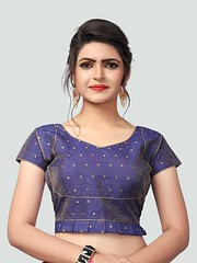 Latest Blue Silk Saree Blouse #YOYOFashion Online Shopping. (yoyo_fashion) Tags: blouse sareeblouse silkblouse