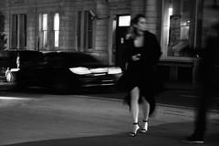 The Night Is Still Young (Coquine!) Tags: christianleyk london england greatbritain unitedkingdom westminster night nacht woman heels smoking cigarette blackandwhite blackwhite schwarzweiss kleinesschwarzes classy street strasse elegant
