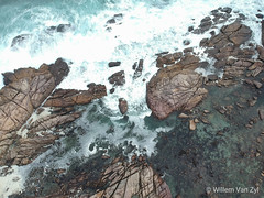 Aerial View of Coastline with Boulders (WillemZA) Tags: landscape ocean beach wave blue boulder dji djispark drone dronephotography