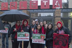 DSC00350 copy (Professional Association of Milwaukee Public Educa) Tags: lateacherstrike joebrusky unitedteachersoflosangeles utla mtea strike teachers california losangeles union picketline arletahighschool