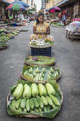 Green Grocer - Yangon, Myanmar (Daddi Andrea) Tags: myanmar burma burmese street travel asia southeastasia asean food yangon rangon birmania vegetables market stall people