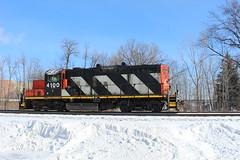 CN 4100 (recekasten) Tags: cn railroad ns signals wisconsin neenah medina junction 446 zebra beast eje bnsf