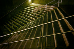 Off the Beaten Path (scottyofeden) Tags: cityscape stairs trainstation moody dark downtown fortworth texas nightphotography streetphotography streetsoffortworth nightlife creativelife