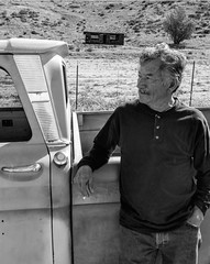 El Pescado (El Cheech) Tags: mountains cabin blackandwhite blackandwhitephotography elfish elpescado pops theoldman mechanic california banning desert portrait hotrod gloomy shack clouds bigwindow shortbed 64chevy 64 1964 truck pickup chevrolet chevy c10