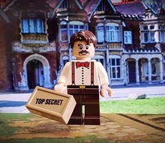 Bletchley Park Codebreaker (brickhistorian) Tags: custom customs code secret war world wars ww2 wwii two allies afol brick bricks brit britain minifig minifigure military brickforge codebreaker topsecret lego legos