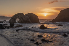 The Gateway (Andrew G Robertson) Tags: antrim seascape coast causeway sea arch ballintoy giants northern ireland sunset sunrise