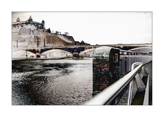 Festung, Löwenbrücke, Main (Armin Fuchs) Tags: arminfuchs würzburg lavillelaplusdangereuse main rivermain festung festungmarienberg fortress löwenbrücke mainkai niftyfifty