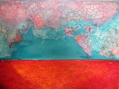 """MIXED MEDIUM"" (zaazaa777) Tags: mixedmedium acrylic canvas bird paper stencil"