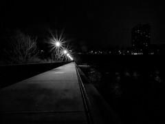 3.24.2019 Out of the shadows (Kristine Runner) Tags: night milwaukeeriver bridge blackandwhite eastside