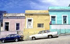Numbers 41, 43 and 45 Leeuwen Street, Bo-Kaap (HiltonT) Tags: capetown bokaap leeuwenstreet tablemountain
