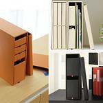 収納ボックス、ファイルの写真
