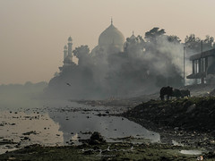 Yamuna River, Agra (kwaek) Tags: taj mahal india agra wonders