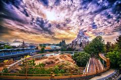 Looking to Tomorrow - EXPLORE (Matt Valeriote) Tags: disneyland disney californiaadventure tomorrowland monorail matterhorn lagoon autopia findingnemosubmarinevoyage sky