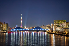View to Tokyo Skytree-5 (Thomas Cheung Bus Photography) Tags: sony a7iii a7m3 ilcea7iii a73 tokyoskytree river bridge nightscape lights star sky landscape