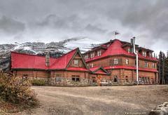 Simpson's Num-Ti-Jah Lodge on Bow Lake in Banff National Park, Alberta Canada (PhotosToArtByMike) Tags: simpsonsnumtijahlodge numtijahlodge bowlake icefieldsparkway banff banffnationalpark bowriver westernalberta canadianrockies albertacanada mountain mountains