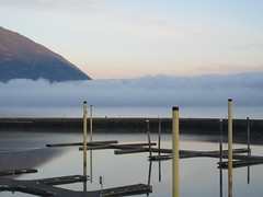 Shuswap Morning (jamica1) Tags: shuswap lake salmon arm bc british columbia canada mist fog cloud marina