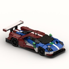 Ford GT LMGTE PRO - Dark red 2018 edition (Lasse Deleuran) Tags: ldraw lemand ford miniland scale