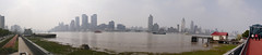 Panorama of the Bund (from Pudong) (SpirosK photography) Tags: shanghai china κίνα σανγκάη city urban middlekingdom pudong economiccenter panorama stitch skyline