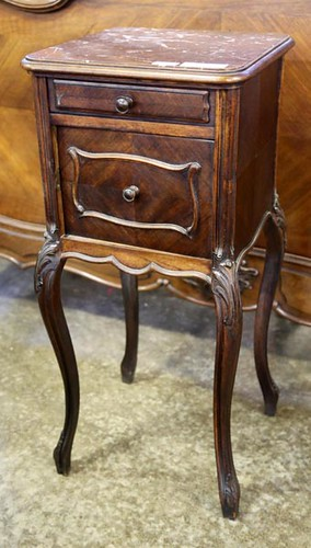 French Style Marble Top Bedside Table ($134.40)