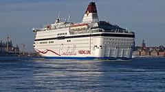 The ferry Viking Cinderella arriving in Stockholm (Franz Airiman) Tags: båt boat ship fartyg stockholm sweden scandinavia vikingline