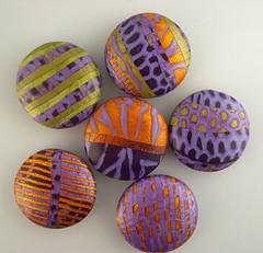 Handmade Polymer Bead Trunk Sale (metalartiste) Tags: handmade beads polymer clay bead art destashing trunk show