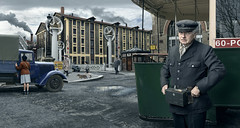 Albert Masson. (blaisearnold.net) Tags: paris ourcq canal ratp bus controleur citroen peugeot france 40s 50s uniforme uniform usine factory vintage