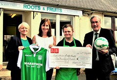 At Roots and Fruits with the Hibs Community Foundation