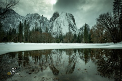 Mirror (J. C. Wang, Ph.D.) Tags: sentinel rock yosemite winter wonderland snow