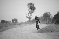 Road - Takumar 135mm 2.5 (thomas.pirolt) Tags: india takumar 135mm sony street bw streetphotography streetlife light braj goverdhan radhakund a7 a7ii people portrait candid moment theindiatree old blackandwhite monocrome mono art