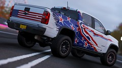 Patriot Colorado ZR2 (PixelGhostClyde) Tags: forza motorsport horizon fh4 turn 10 studios t10 playground games pg microsoft xbox one xb1 xbone x xb1x 4k custom livery fit forzisti italian team chevrolet colorado zr2 offroad extreme patriot us usa america flag star spangled banner graphics