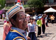 Lijiang Dancer  (in explore) (Rod Waddington) Tags: china chinese culture cultural lijiang dance dancer regalia traditional naxi minority ethnic ethnicity outdoor community public