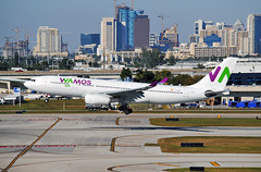 WAMOS Air @ FLL (Infinity & Beyond Photography: Kev Cook) Tags: wamos air airbus a330 aircraft airliner airplane fll fort lauderdale airport planes cityview downtown