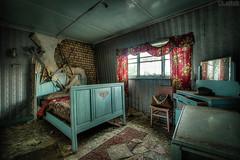 Bad dreams (LaR0b) Tags: ue urban urbex exploring exploration decay abandoned lar0b lost hdr highdynamicrange house bedroom bed mirror