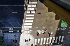 Look Bikes (michael.veltman) Tags: chicago illinois bike lanes look shadows from above inland steel building