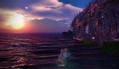Ode to the Sun (Sabreene) Tags: virtual avatar faerie sunset secondlife sl maitreya