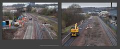 A Civil Engineers day out, south of Sheffield at Heeley & Dore Station - 0524+533 (Views in Camera) Tags: sheffieldmidland heeley networkraillinepossession colasrail class70 70805 6y35 2400tballast totonnorthyardtodorestationjunction hqaehqadautoballasterwagons txmplantltd roadrailexcavator crosscountrytrains class220 voyager 1v54 newcastletotaunton eastmidlandstrains class222 meridian 222011 1f24 stpancrasinternationalviadarnalltosheffield class158 sprinter 158799 nottinghamviadarnalltosheffield northernrail class144 pacer 144019 2p18 huddersfieldviasheffieldtolincolncentral northmidland gcr darnallstation dorewestjunction dorestationjunction doresouthjunction bradwaytunnel shrewsburyroadtunnels quattroroadrail readypowerunits kaillkubotau554excavator streetsahead olivegrovedepot bnqdiystore woodheadelectrification overheadlineequipment hopevalleyline signals0056 signals0057 totleytunneleastbox
